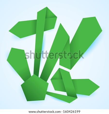 Green Life diagram from origami paper