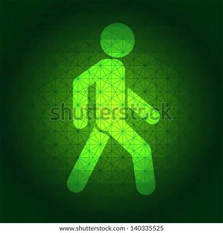 green light - stock vector