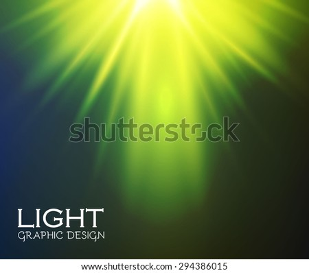 Green light design. Illuminated illustration. Electric flash for your business design.  Vector illustration. - stock vector