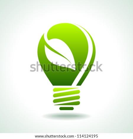 green light eco concept - stock vector