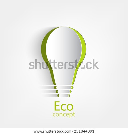 Green light, environmental concept, vector illustration - stock vector