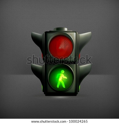 Green light, vector
