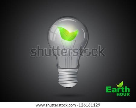 green light with dark background - stock vector