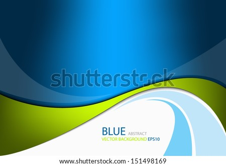 Green line background on blue modern graphic background for texture and pattern design. message board for text and message design , vector - stock vector