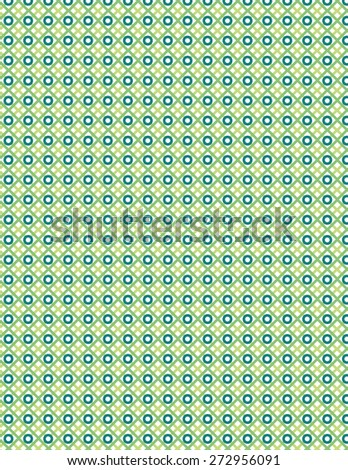 Green line circle pattern over white color background - stock vector