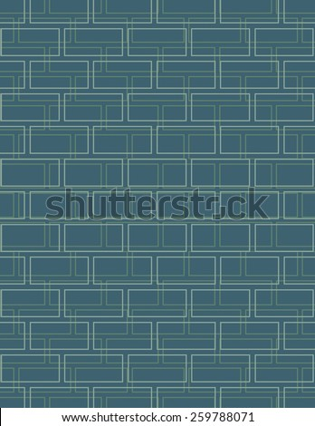 Green line pattern over blue color background - stock vector