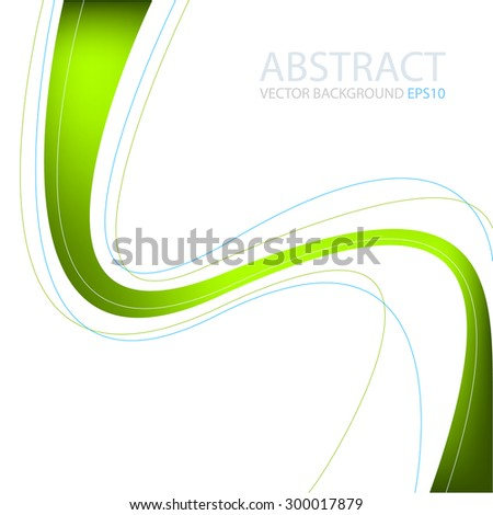 Green line vector background - stock vector