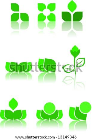green logo design samples - stock vector