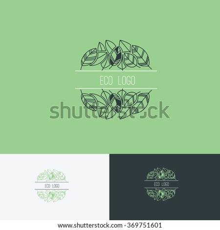 green logo,Vector Logo Template - stock vector
