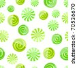 green mint striped candy seamless pattern on white background - stock vector