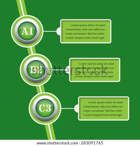 green modern business and media info graphics banner - design templates - stock vector
