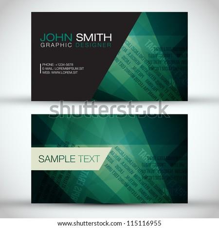 Green Modern Business-Card Set | EPS10 Vector Design - stock vector