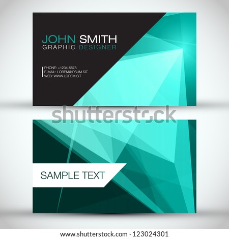 Green Modern Business-Card Set | EPS10 Vector Design - stock vector