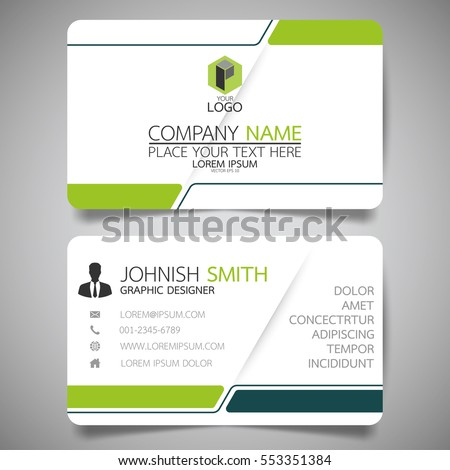 Red business card template vector free download name card corporate green modern creative business card name stock vector accmission