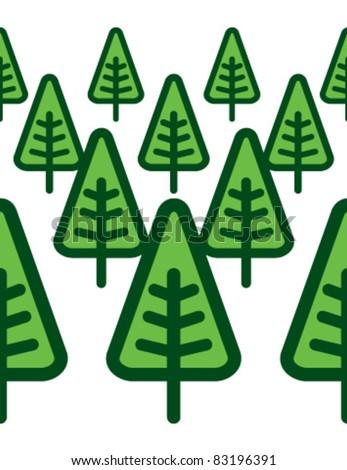 green modern forest - stock vector