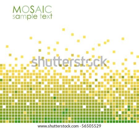 Green mosaic VECTOR - stock vector