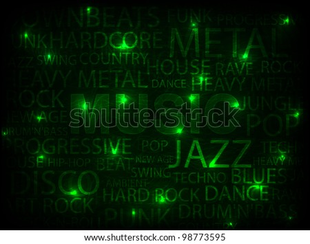 green music abstract background. vector illustration