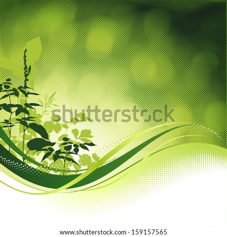 Green nature background. - stock vector