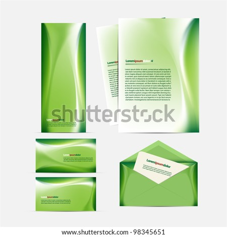 Green Package - stock vector