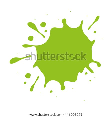 green paint stain isolated icon design, vector illustration  graphic  - stock vector