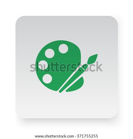 Green Palette icon on white app button