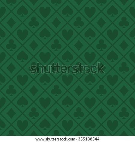 Green Pattern Fabric Poker Table