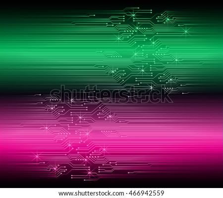 green pink abstract cyber future technology concept background, illustration, circuit, binary code. move motion speed. sci-fi. vector