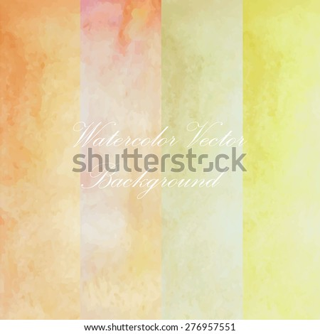 green pink yellow light paint watercolor vintage and isolate on white background in love summer wedding card. - stock vector