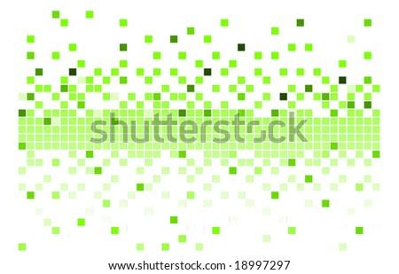 Green pixels - stock vector