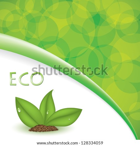 Green plant natural background eco - stock vector
