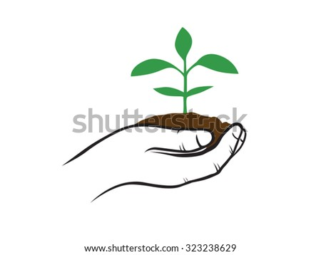 Green Plants Sustainability - stock vector