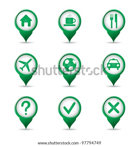Green poiners for football fans - stock vector