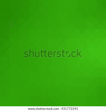 Green polygonal illustration, low poly style vector - stock vector