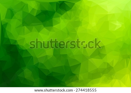 Green Polygonal Mosaic Background, Creative Design Templates - stock vector