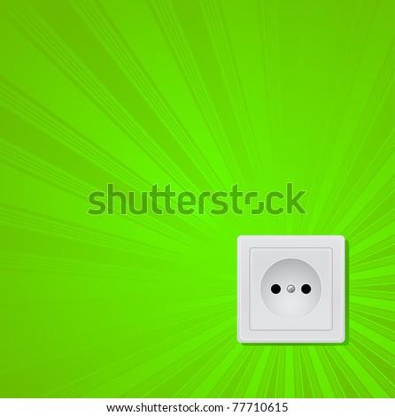 green power  concept - stock vector