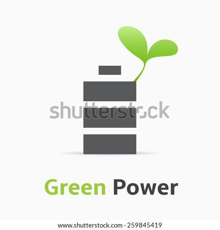 Green Power. Green Power logo. - stock vector