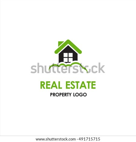 green Real Estate Logo designs for business corporate visual identity. Home Houses and skyscrapers theme
