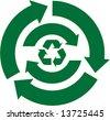 Green Recycle Arrows - stock vector