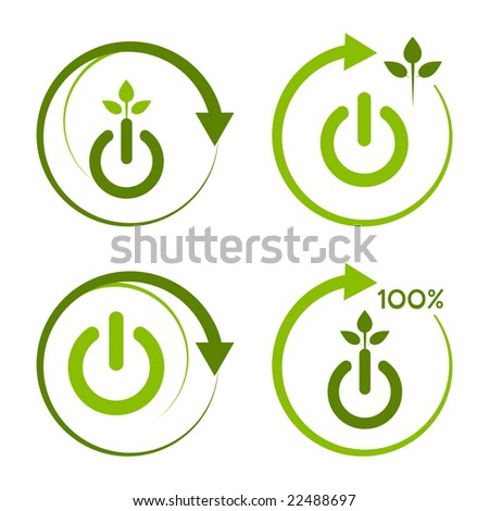 Green recycled energy design. - stock vector