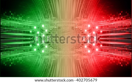 green red abstract hi speed internet technology background illustration. eye scan virus computer. vector - stock vector
