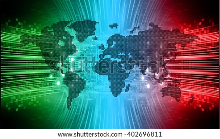 green red blue color Light Abstract Technology background for computer graphic website internet. circuit. illustration. digital. infographics.binary code. www.vector.motion move. World map - stock vector