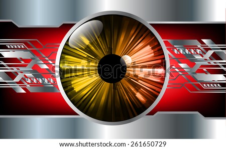 green red Light Abstract Technology background for computer graphic website business and internet, silver background. orange eye