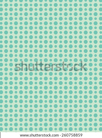 Green repeating circle pattern over green background - stock vector
