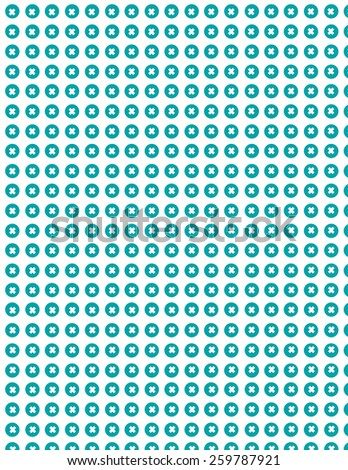 Green repeating circle pattern over white green background - stock vector
