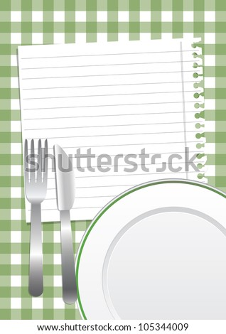 Green restaurant background - stock vector