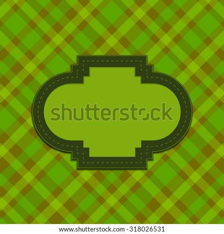 Green Retro frame background - stock vector