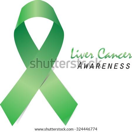 Green Ribbon Symbol Liver Cancer Awareness Stock Vector Royalty