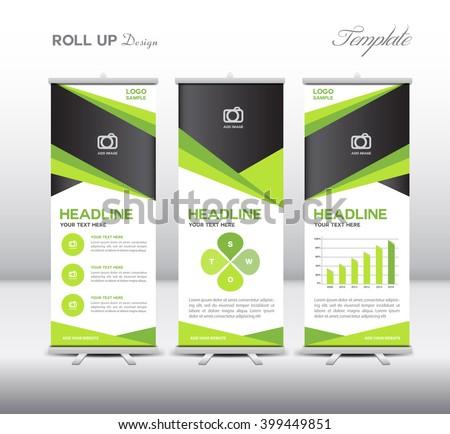 green roll banner template info graphics ベクター画像素材 399449851