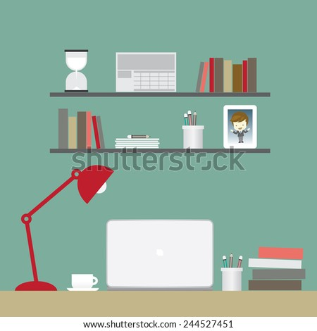 green room for work ,vector illustration - stock vector