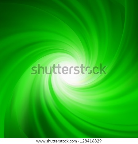 Green rotation abstract. EPS 8 vector file included - stock vector